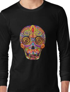 Sugar Skull Day of the Dead shirt Long Sleeve T-Shirt
