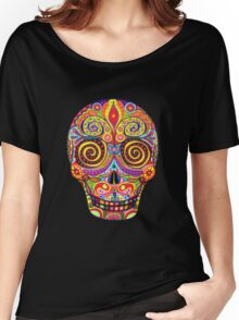 Sugar Skull Day of the Dead shirt Women's Relaxed Fit T-Shirt