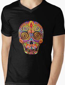 Sugar Skull Day of the Dead shirt Mens V-Neck T-Shirt