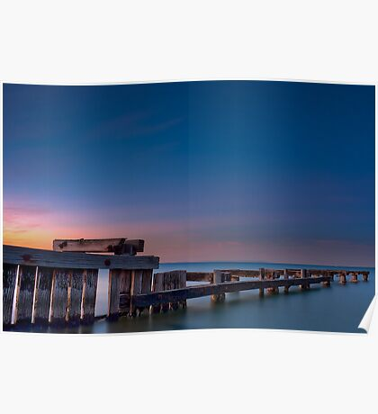 Dawn at Mentone Pier #2 Poster