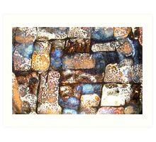 Mosaic Glaze 3 Carcoar Art Print