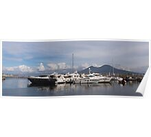 Vesuvius and the Boats Poster