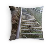 Stairways of the Blue Mountains-2 Throw Pillow