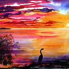 Colours of Sunset  - Fantasy Seascape by  Linda Callaghan