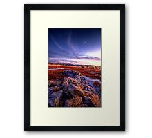 Rock Wall Sunset 2 Framed Print