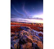 Rock Wall Sunset 2 Photographic Print