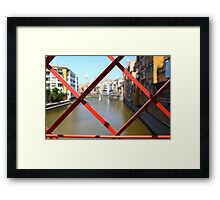 red bridge Steel structure  Framed Print
