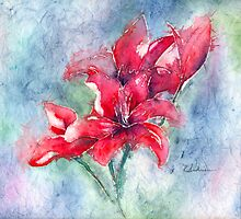 Bright Lilies by Kathleen Andrews