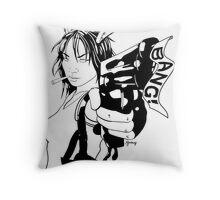 BANG! BW Throw Pillow
