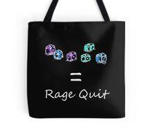 Rage Quit - Dark T's  Tote Bag