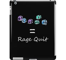 Rage Quit - Dark T's  iPad Case/Skin