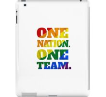 One Nation, One Team - US Soccer - Gay Marriage iPad Case/Skin