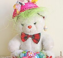 Fatso Bear with an Easter basket by pogomcl