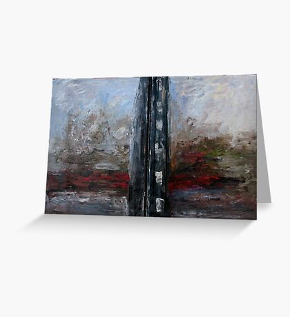 A river after black building Greeting Card