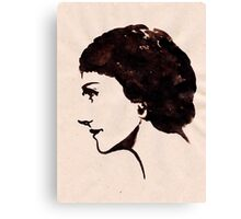 Gabrielle Chanel (Ink on paper) Canvas Print