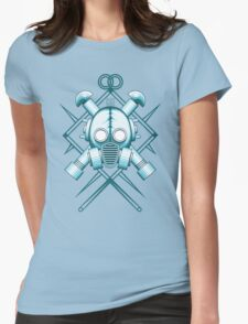 Tribal blue gasmask Womens Fitted T-Shirt