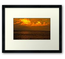 Billowy Sunset Framed Print