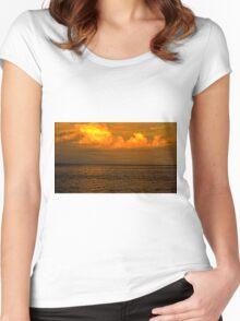 Billowy Sunset Women's Fitted Scoop T-Shirt