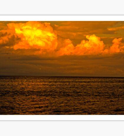 Billowy Sunset Sticker