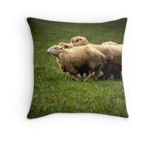 Running Sheep Throw Pillow