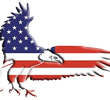 American Eagle, America, Bald Eagle, USA, Bird of Prey, War by TOM HILL - Designer