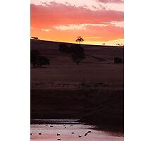 Dam Sunset - Western Australia Photographic Print
