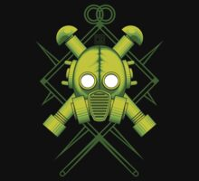 Tribal combat green gasmask by Rustyoldtown