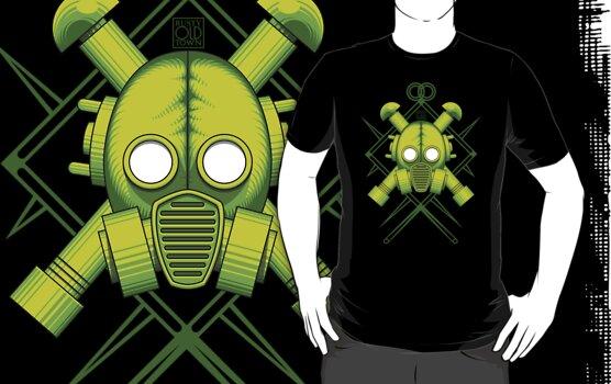 Tribal combat green gasmask by Rustyoldtown