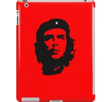 Che Guevara, Revolution, Marxist, Revolutionary, Cuba, Power to the people! Black on Red iPad Case/Skin