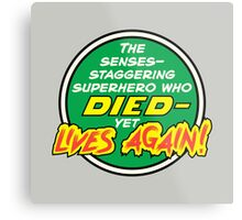Comic Book Memories: Died Yet Lives Again! Metal Print