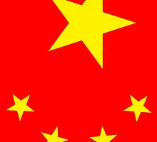 CHINA, CHINESE, Chinese Flag, Flag of China, People's Republic of China, Portrait by TOM HILL - Designer