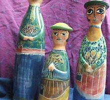strange ceramic dolls another angle by catherine walker