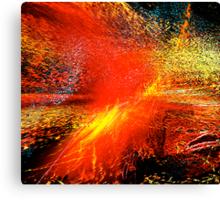 man#18...... exploding planet Canvas Print
