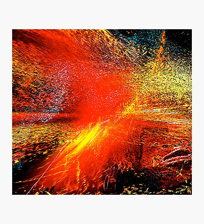 man#18...... exploding planet Photographic Print
