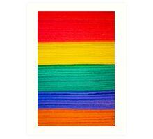 Rainbow Towels Art Print