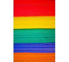 Rainbow Towels Photographic Print