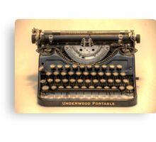 my underwood portable typewriter HDR Canvas Print