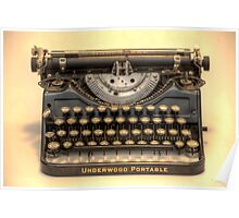 my underwood portable typewriter HDR Poster