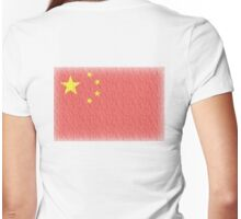 CHINA, FADED CHINESE FLAG, Flag of China, People's Republic of China, China, Pure & Simple, FADED Womens Fitted T-Shirt