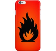 Flame Symbol by Chillee Wilson iPhone Case/Skin