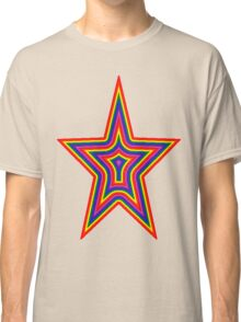 Psychedelic Rainbow Star Classic T-Shirt
