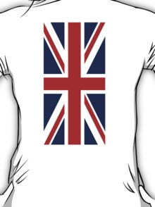 British, Union Jack Flag, 1;2 UK, Blighty, United Kingdom, Portrait, Pure & simple  T-Shirt