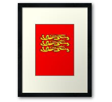 Royal Banner of England, England, Three Lions, 3 Lions, English, British, Britain, UK, RED Framed Print