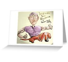 my superhero autograph collection #1 Greeting Card