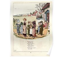 Under the Window Pictures and Rhymes for Children Edmund Evans and Kate Greenaway 1878 0029 School is Over Poster