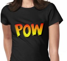 Cartoon POW by Chillee Wilson Womens Fitted T-Shirt