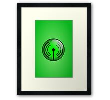 Wi-Fi Icon by Chillee Wilson Framed Print