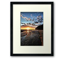 Strand River Flow - Ballybunion Framed Print