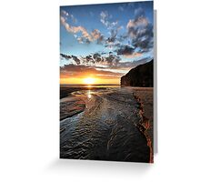 Strand River Flow - Ballybunion Greeting Card
