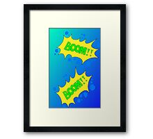 Cartoon BOOM by Chillee Wilson Framed Print